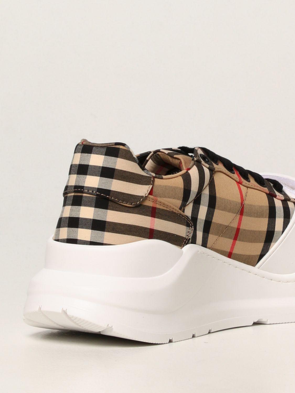 Sneakers Burberry: Sneakers Burberry in cotone con motivo check beige 3