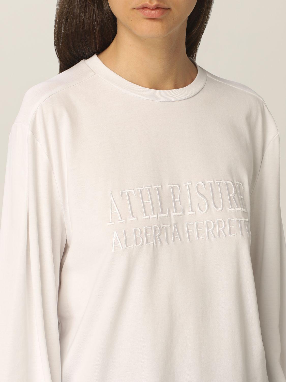 Sweatshirt Athleisure Alberta Ferretti: Sweatshirt damen Athleisure Alberta Ferretti weiß 5
