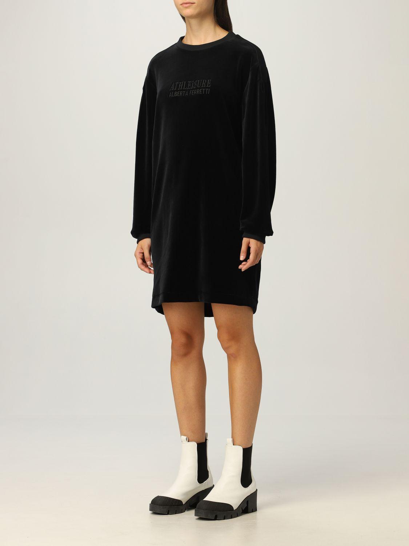 Kleid Athleisure Alberta Ferretti: Kleid damen Athleisure Alberta Ferretti schwarz 3