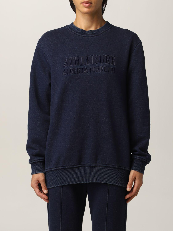Sweatshirt Athleisure Alberta Ferretti: Sweatshirt damen Athleisure Alberta Ferretti denim 1