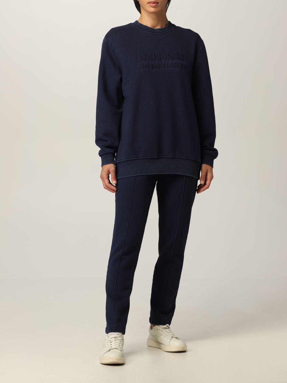 Sweatshirt Athleisure Alberta Ferretti: Sweatshirt damen Athleisure Alberta Ferretti denim 2