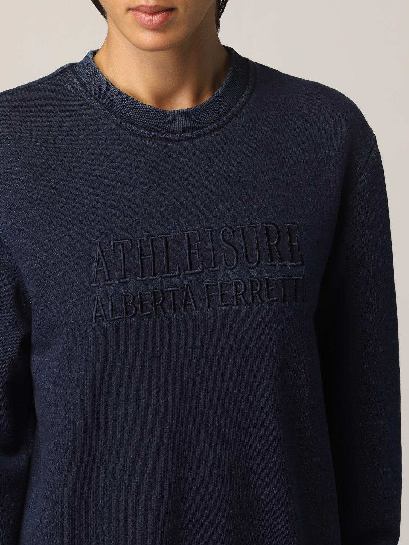 Sweatshirt Athleisure Alberta Ferretti: Sweatshirt damen Athleisure Alberta Ferretti denim 5