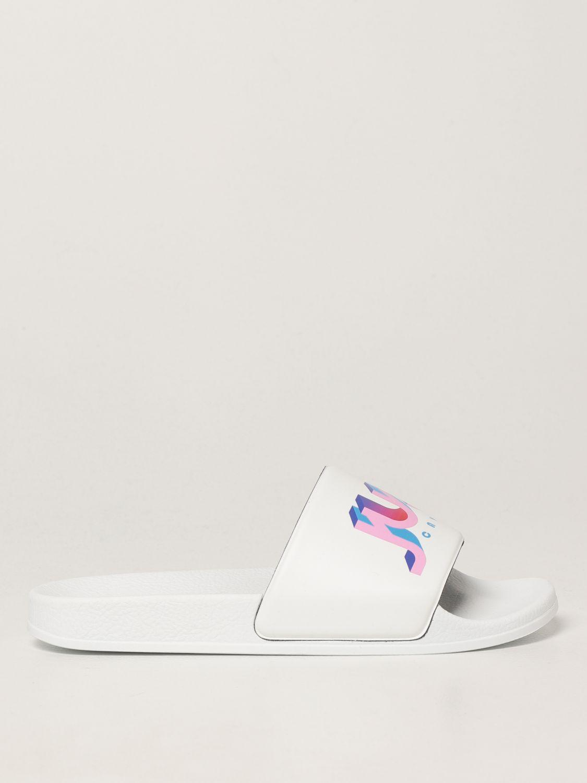 Sandales plates Just Cavalli: Chaussures femme Just Cavalli blanc 1