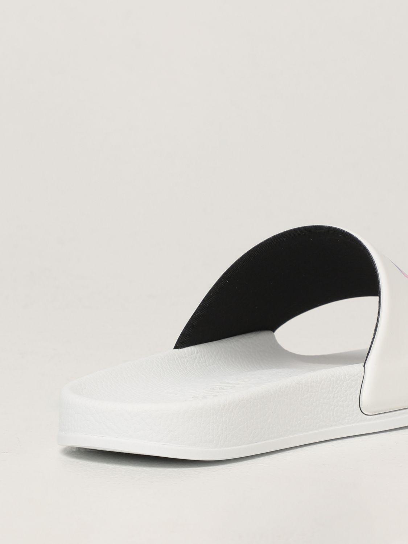 Sandales plates Just Cavalli: Chaussures femme Just Cavalli blanc 3