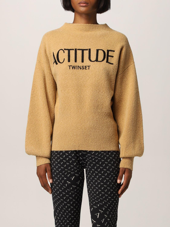 毛衣 Actitude Twinset: 毛衣 女士 Actitude Twinset 驼色 1