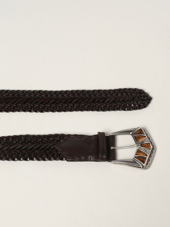 Cintura Etro: Cintura Etro in in pelle intrecciata marrone 2