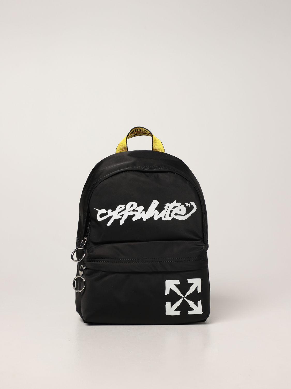 Bag Off White: Off White nylon backpack with logo black 1