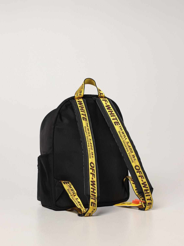 Bag Off White: Off White nylon backpack with logo black 2