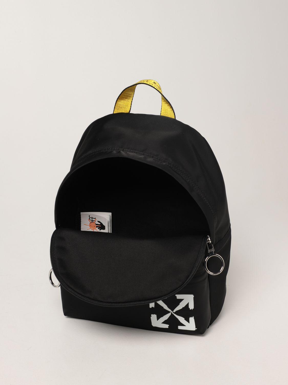 Bag Off White: Off White nylon backpack with logo black 4