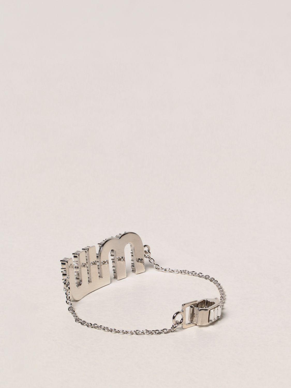 Gioielli Miu Miu: Bracciale Miu Miu con cristalli argento 2
