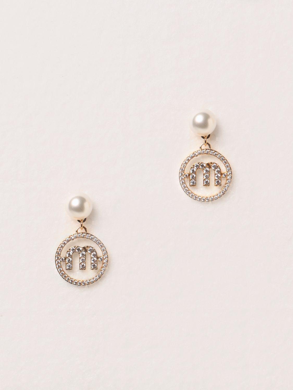 Gioielli Miu Miu: Orecchini pendenti Miu Miu con perle oro 1