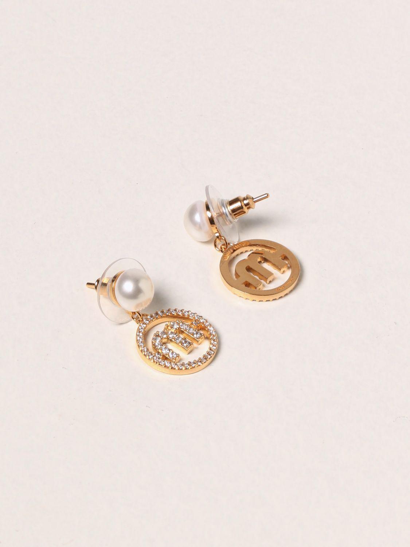 Gioielli Miu Miu: Orecchini pendenti Miu Miu con perle oro 2