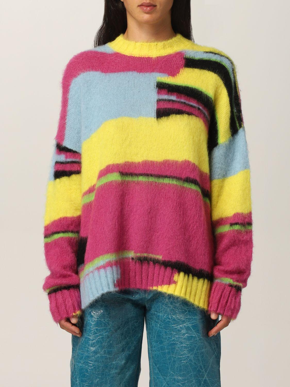 Maglia Msgm: Pullover Msgm in lana merino multicolor fantasia 1