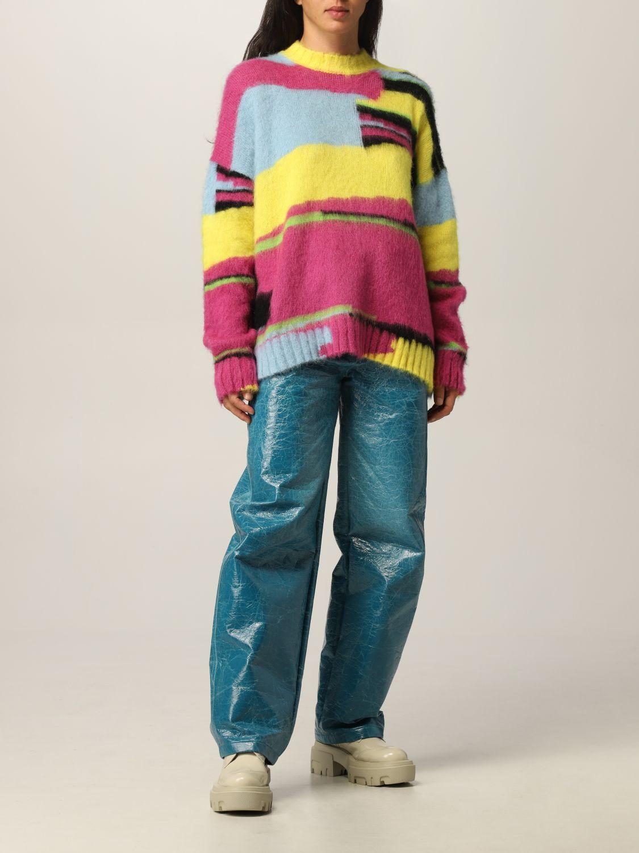Maglia Msgm: Pullover Msgm in lana merino multicolor fantasia 2