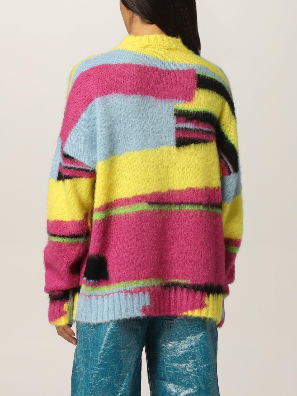 Maglia Msgm: Pullover Msgm in lana merino multicolor fantasia 3