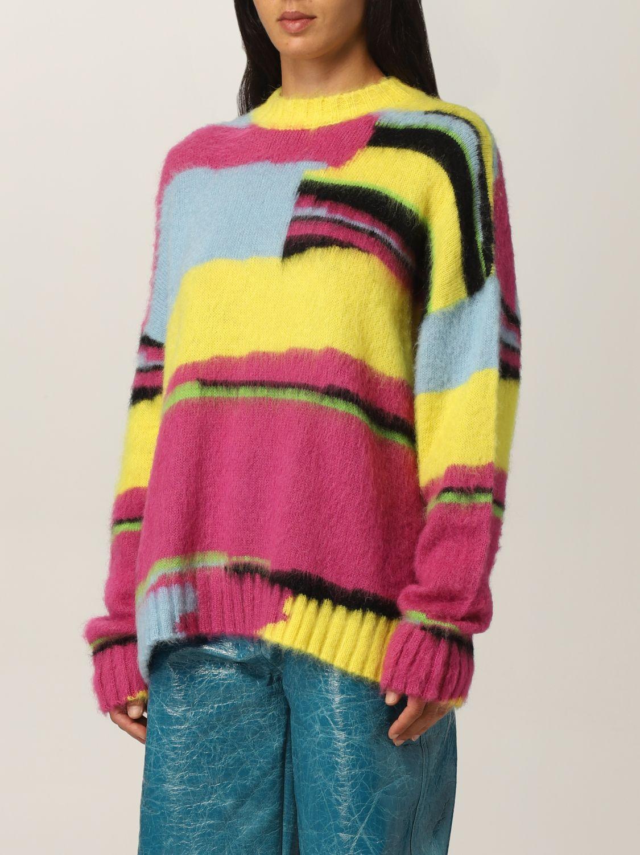 Maglia Msgm: Pullover Msgm in lana merino multicolor fantasia 4