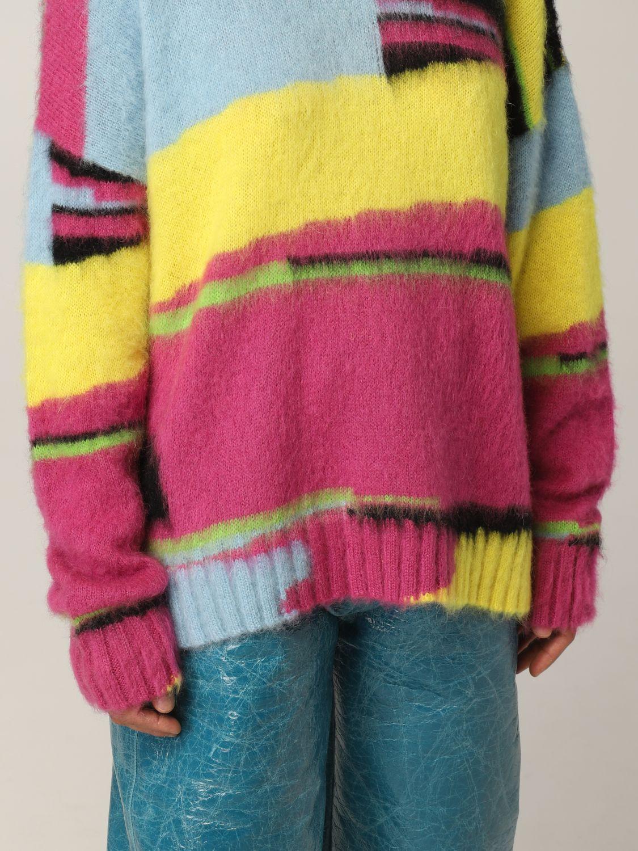 Maglia Msgm: Pullover Msgm in lana merino multicolor fantasia 5