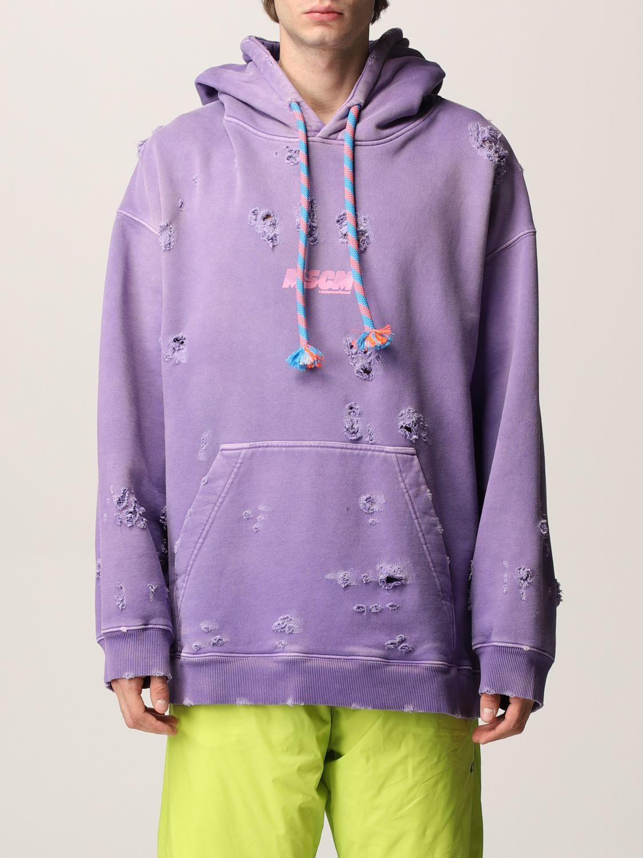 Msgm Sweatshirt Sweatshirt Men  In Lilac