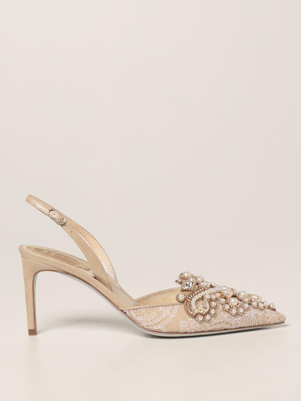 Туфли-лодочки Rene Caovilla: Обувь Женское Rene Caovilla золотой 1