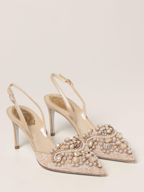Туфли-лодочки Rene Caovilla: Обувь Женское Rene Caovilla золотой 2