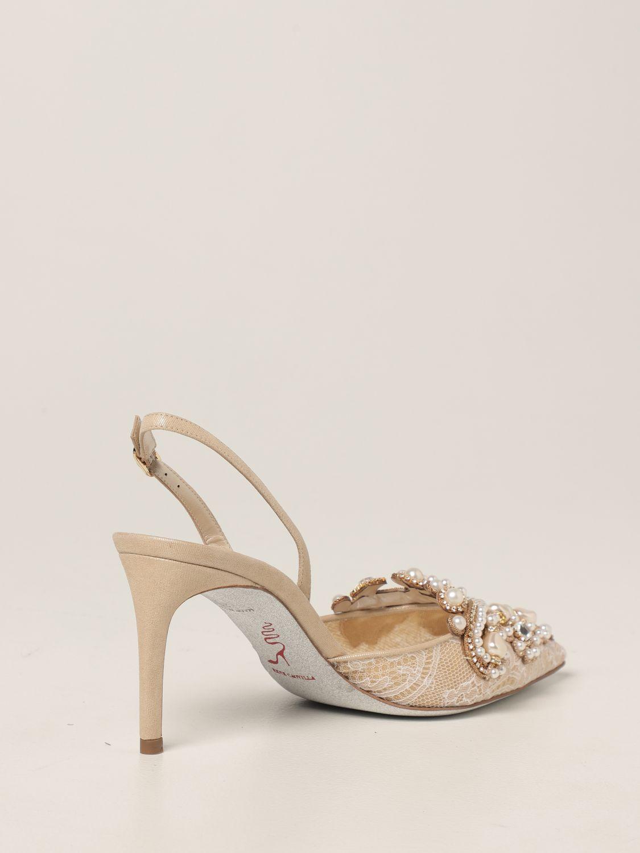 Туфли-лодочки Rene Caovilla: Обувь Женское Rene Caovilla золотой 3
