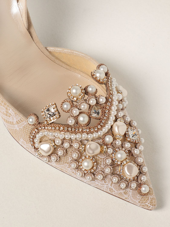 Туфли-лодочки Rene Caovilla: Обувь Женское Rene Caovilla золотой 4