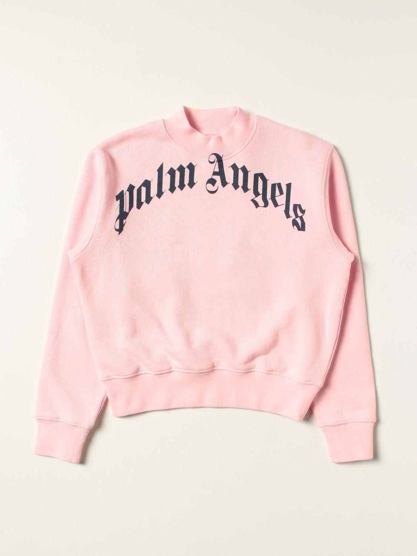 Maglia Palm Angels: Girocollo over stampa rosa 1