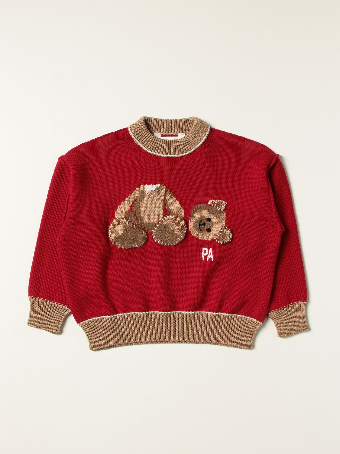 Pull Palm Angels: Pull enfant Palm Angels rouge 1