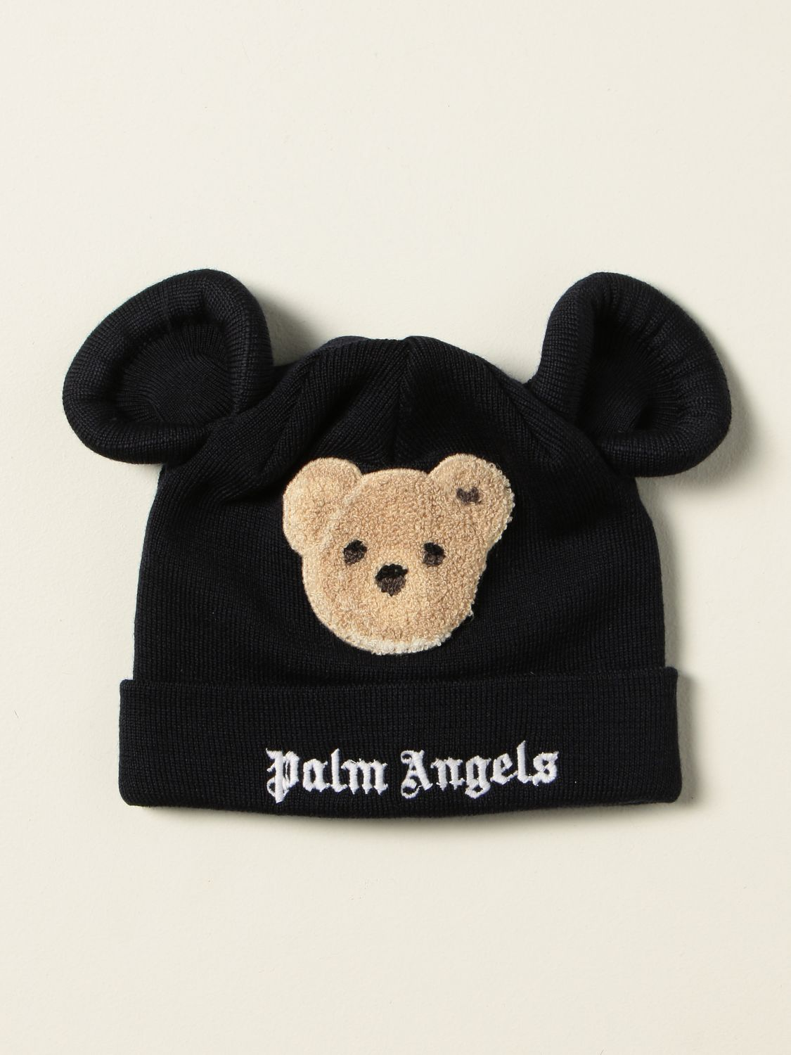 Cappello bambino Palm Angels: Cappello a berretto Palms Angels con patch orso blue navy 1