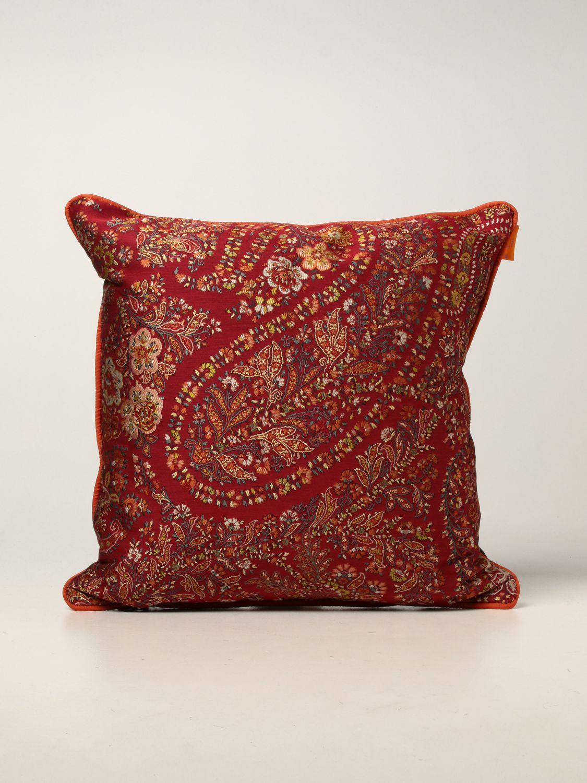 CUSCINO Etro Home: Timandra cuscino 45x45 con piping rosso 1