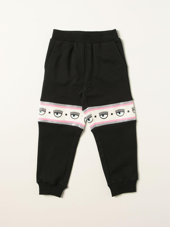 Pantalone Chiara Ferragni: Pantalone jogging Chiara Ferragni con logo eyelikes nero 1