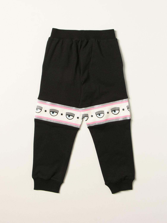 Pantalone Chiara Ferragni: Pantalone jogging Chiara Ferragni con logo eyelikes nero 2