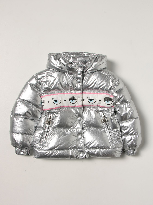 Куртка Chiara Ferragni: Куртка Детское Chiara Ferragni серебряный 1