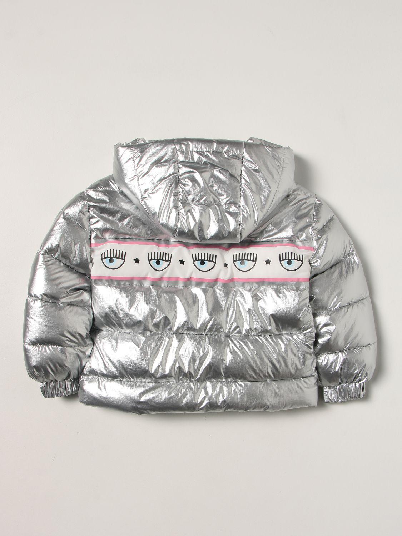 Куртка Chiara Ferragni: Куртка Детское Chiara Ferragni серебряный 2