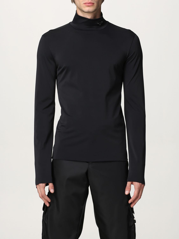 Maglia Prada: Lupetto jersey tecnico con logo nero 1