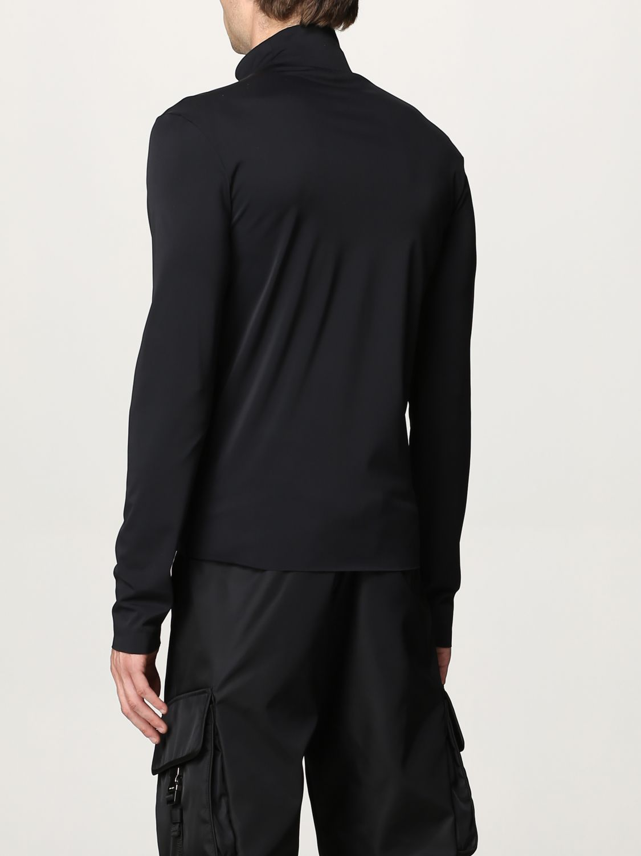 Maglia Prada: Lupetto jersey tecnico con logo nero 3