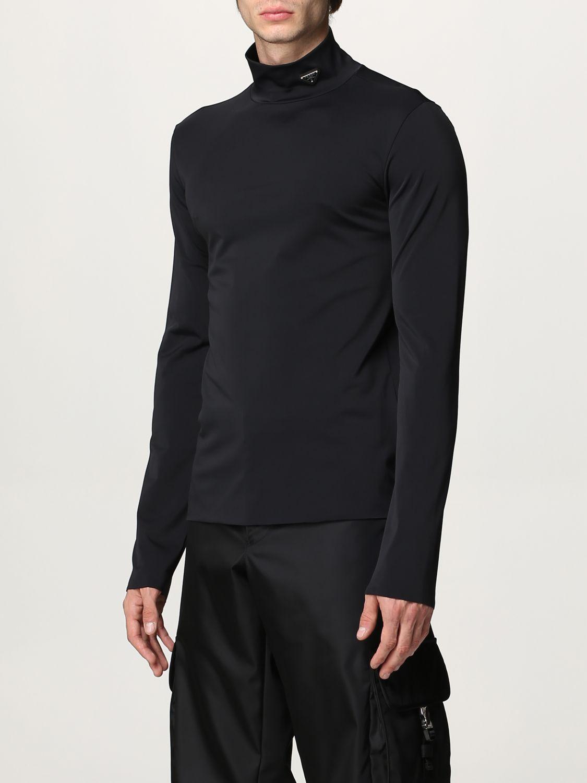 Maglia Prada: Lupetto jersey tecnico con logo nero 4