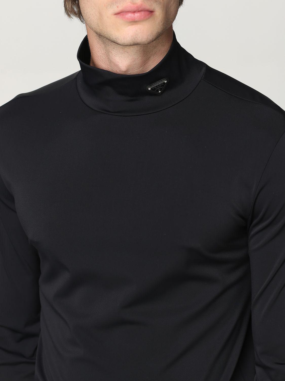 Maglia Prada: Lupetto jersey tecnico con logo nero 5