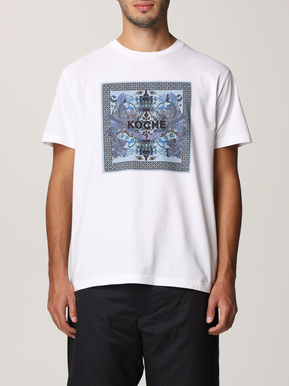 T-shirt Koche': Mezza manica girocollo stampa bianco 1