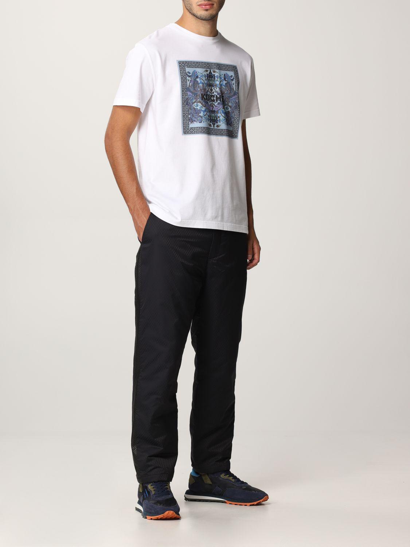 T-shirt Koche': Mezza manica girocollo stampa bianco 2