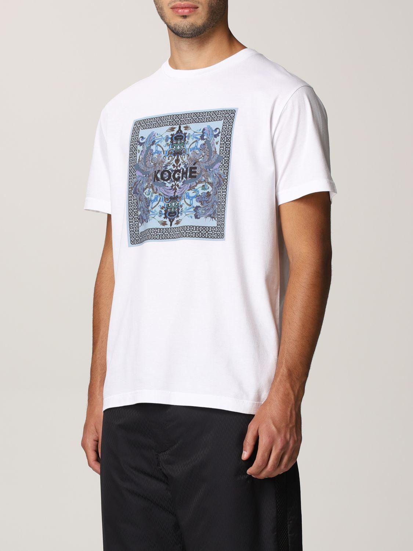 T-shirt Koche': Mezza manica girocollo stampa bianco 4