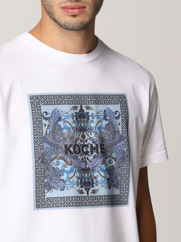 T-shirt Koche': Mezza manica girocollo stampa bianco 5