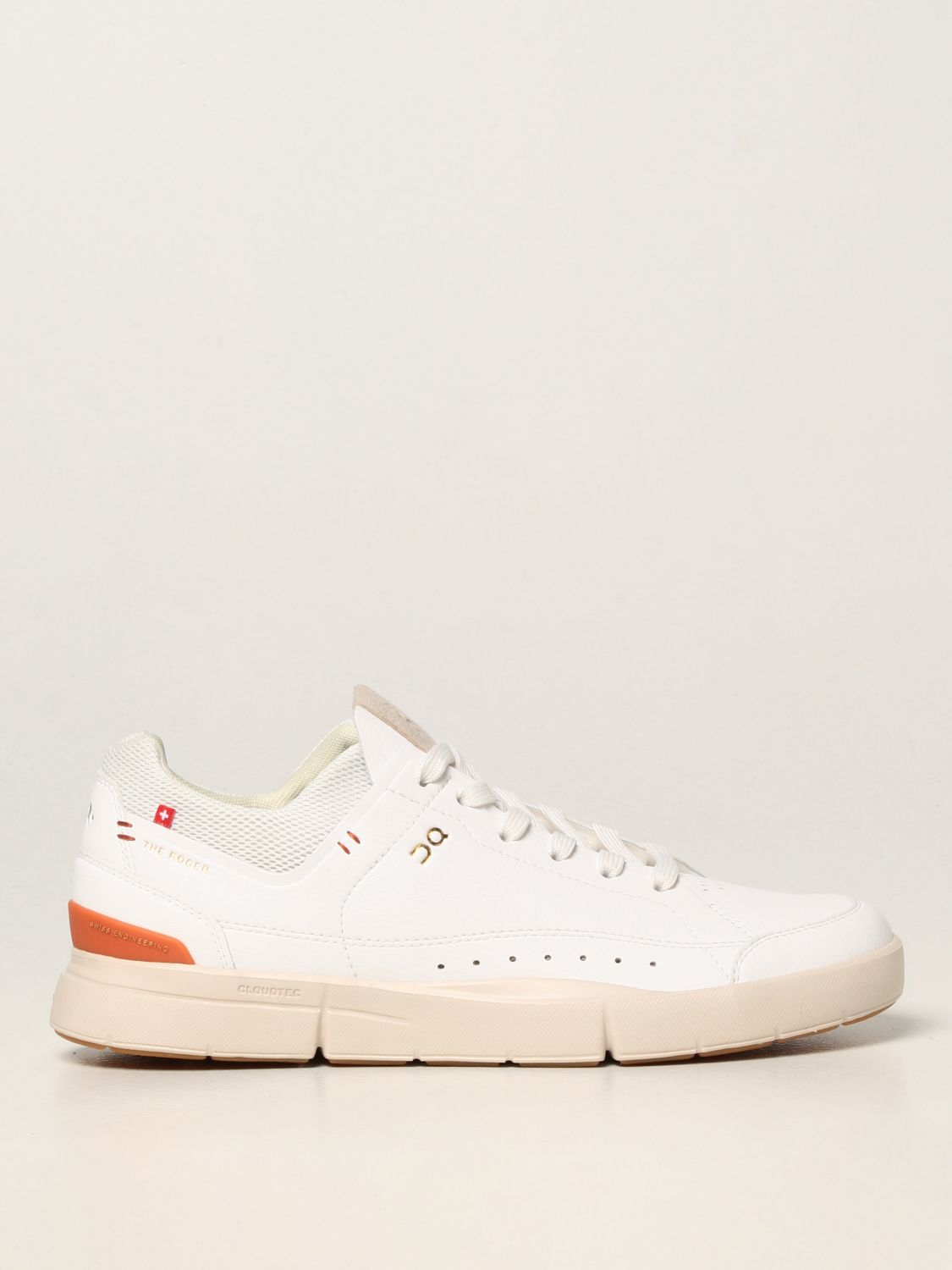 Sneakers The Roger: Sneakers Centre Court The Roger in pelle ecologica e mesh bianco 1