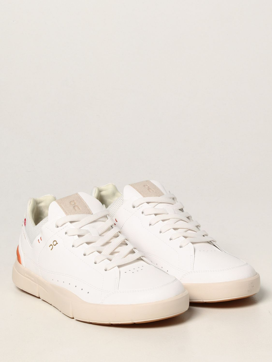 Sneakers The Roger: Sneakers Centre Court The Roger in pelle ecologica e mesh bianco 2