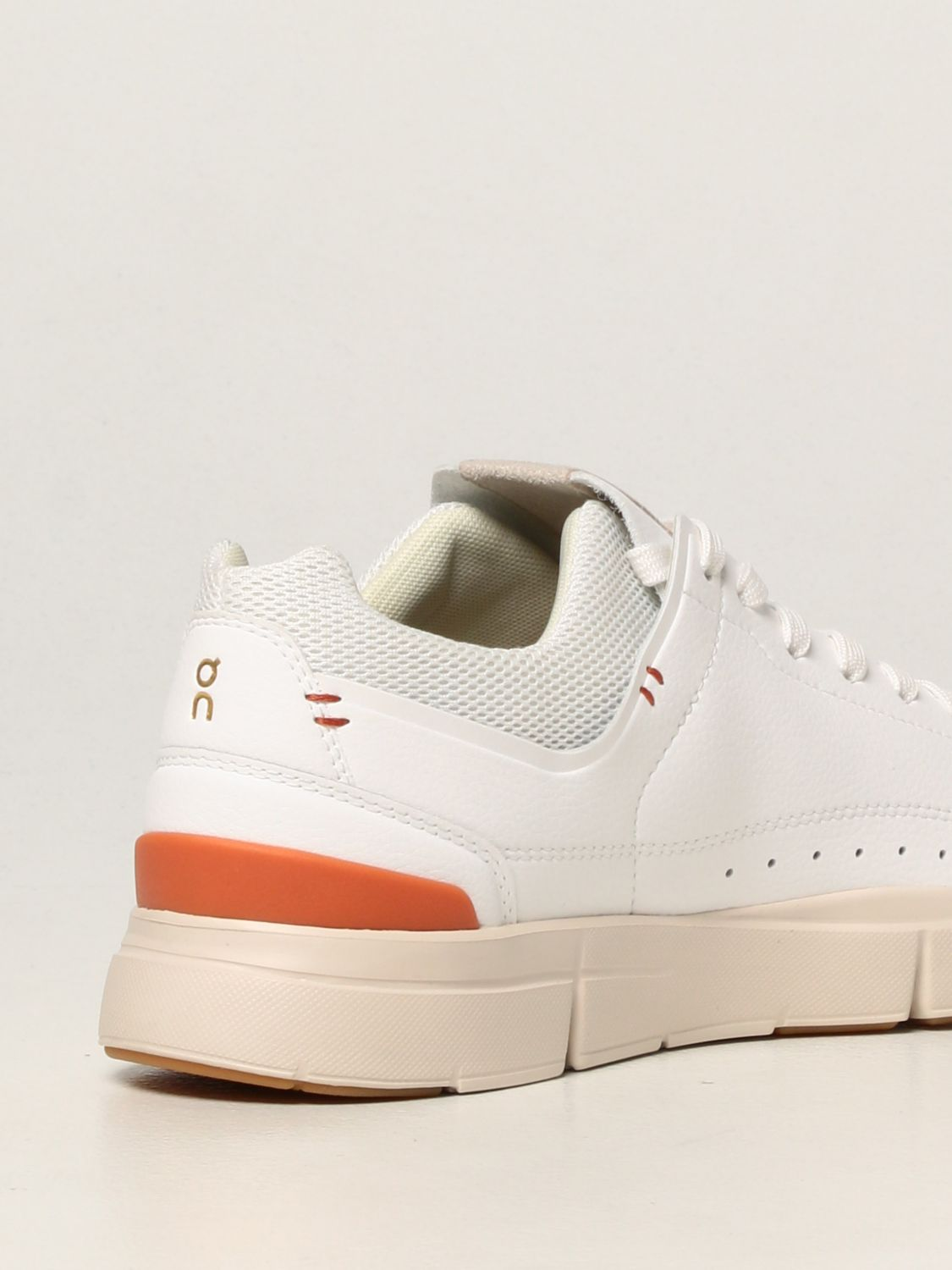 Sneakers The Roger: Sneakers Centre Court The Roger in pelle ecologica e mesh bianco 3