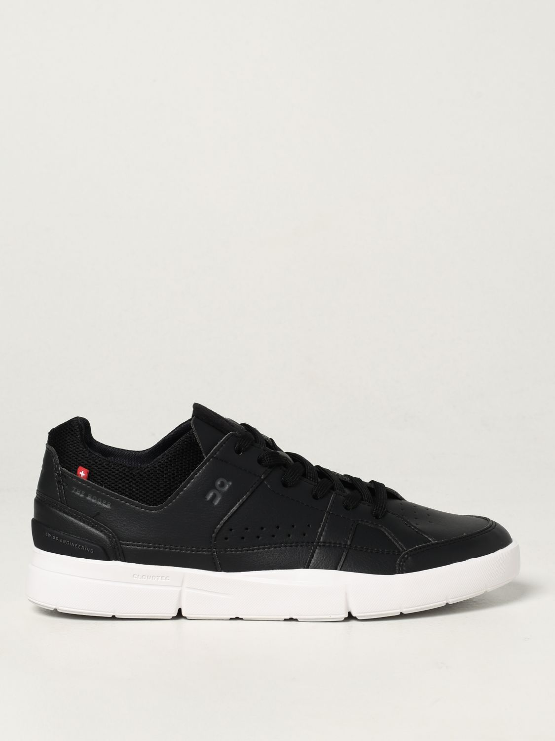 Sneakers The Roger: Sneakers Clubhouse in pelle ecologica e mesh nero 1