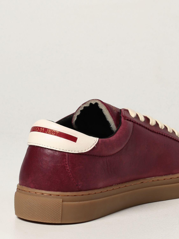 Sneakers Pro 01 Ject: Sneakers Pro 01 Ject in pelle bordeaux 3