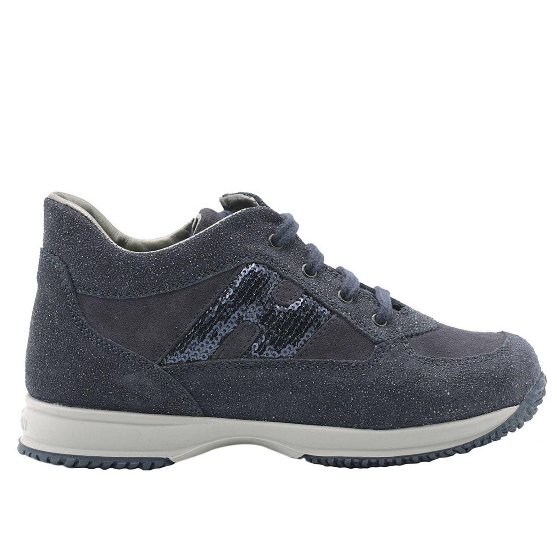 Sneaker Interactive Junior con H fustellata grande e zip laterale