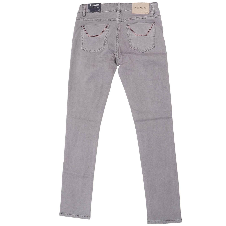 Jeans JA75 in cotone stretch con maxi toppe tono su tono grigio 2