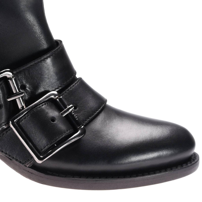 Bottines plates Karl Lagerfeld: Chaussures femme Karl Lagerfeld noir 3